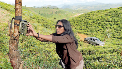 Anjali setting remote camera
