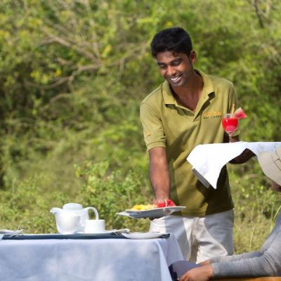 Mahoora service staff at Mahoora campsite Wilpattu National Park