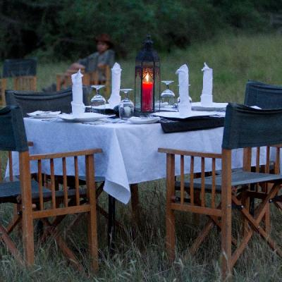 Evening table setup at Mahoora Wilpattu National Park