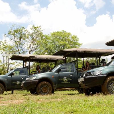 Mahoora luxury safari jeeps at Wilpattu National Park Sri Lanka
